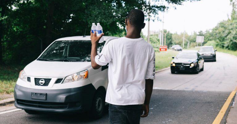 The water boy's hustle