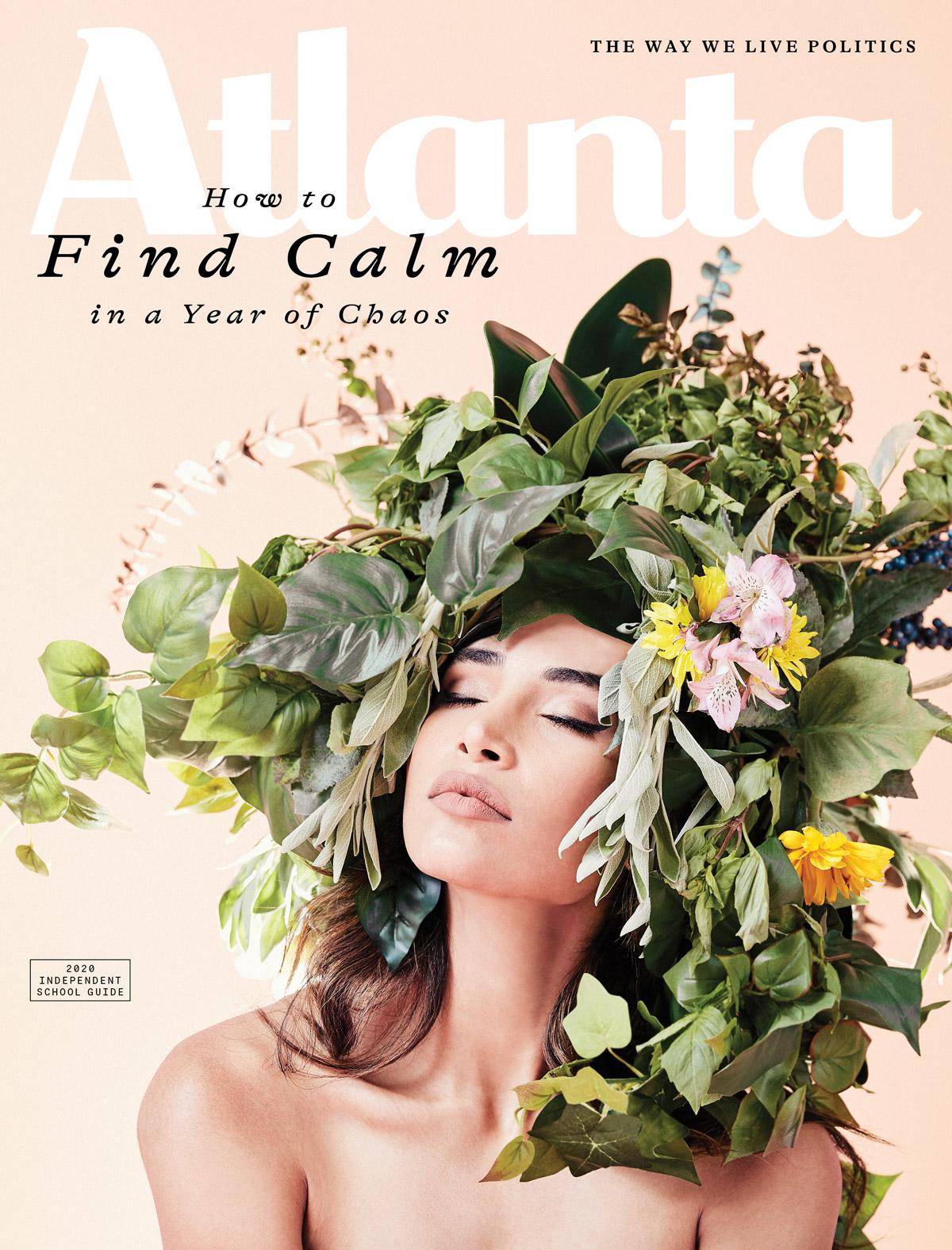 Atlanta Magazine November 2020 cover - Calm
