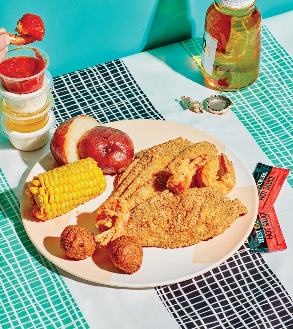 Crawfish Shack: Fried catfish and shrimp