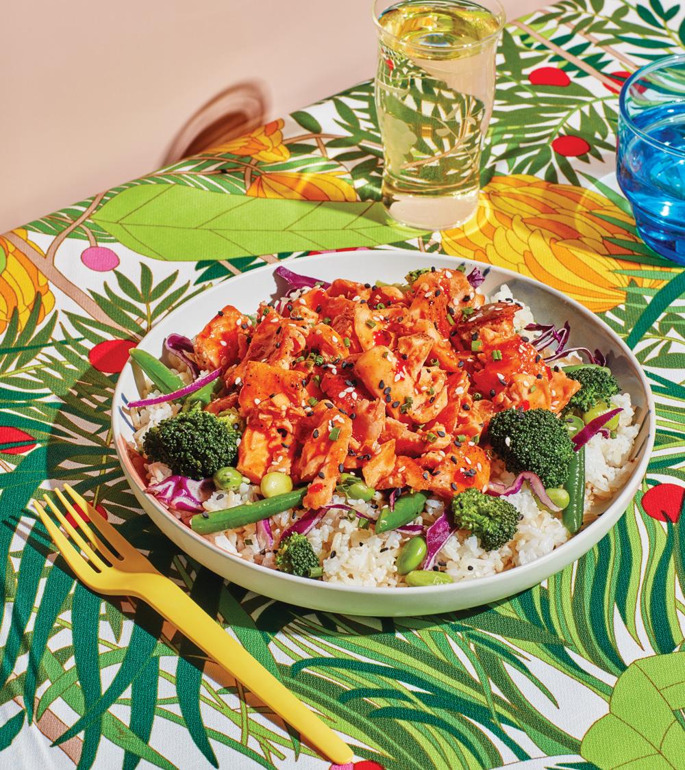 Grub Fresh Bowls & Wraps: Sweet and spicy salmon bowl
