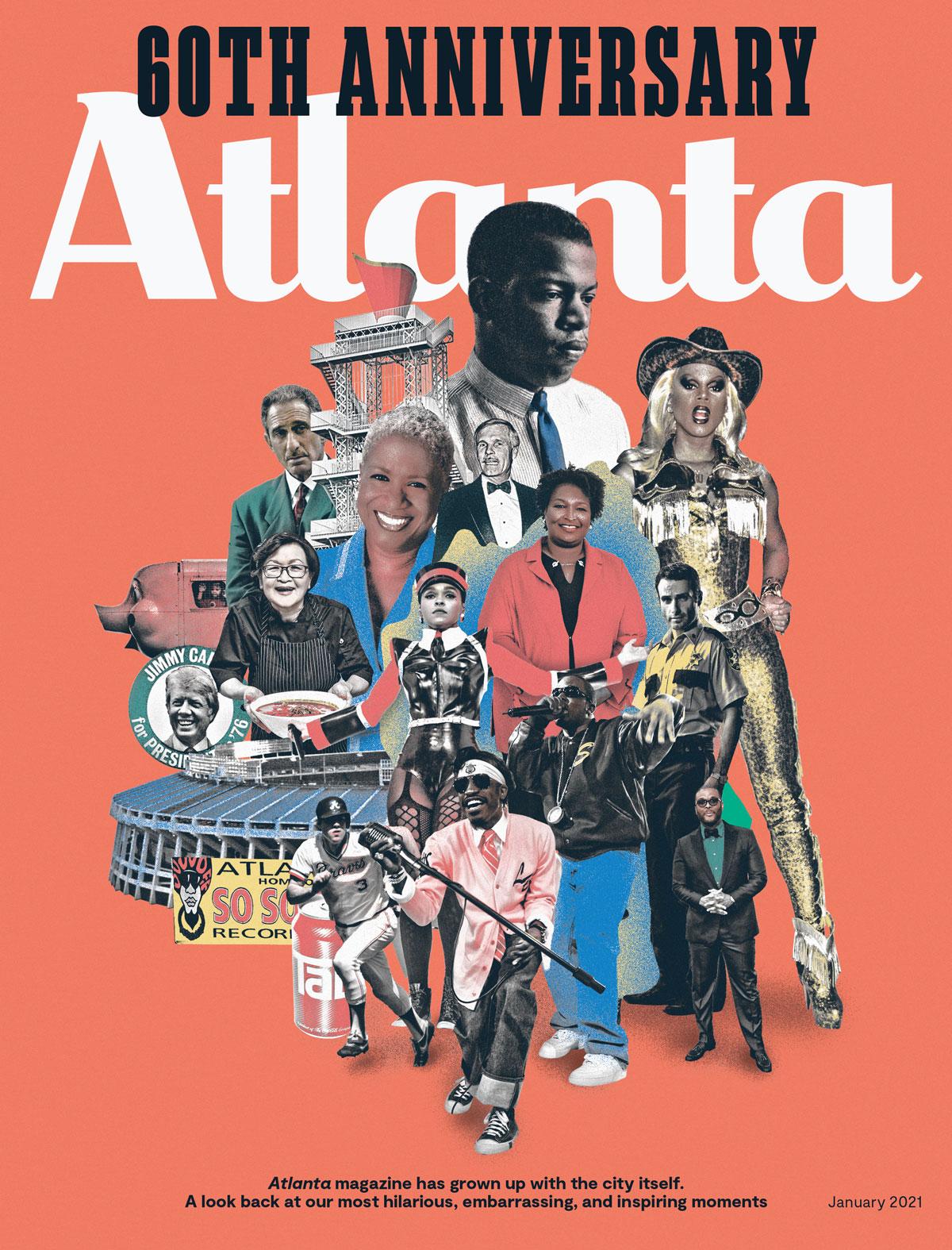Atlanta Magazine January 2021 cover - 60th Anniversary