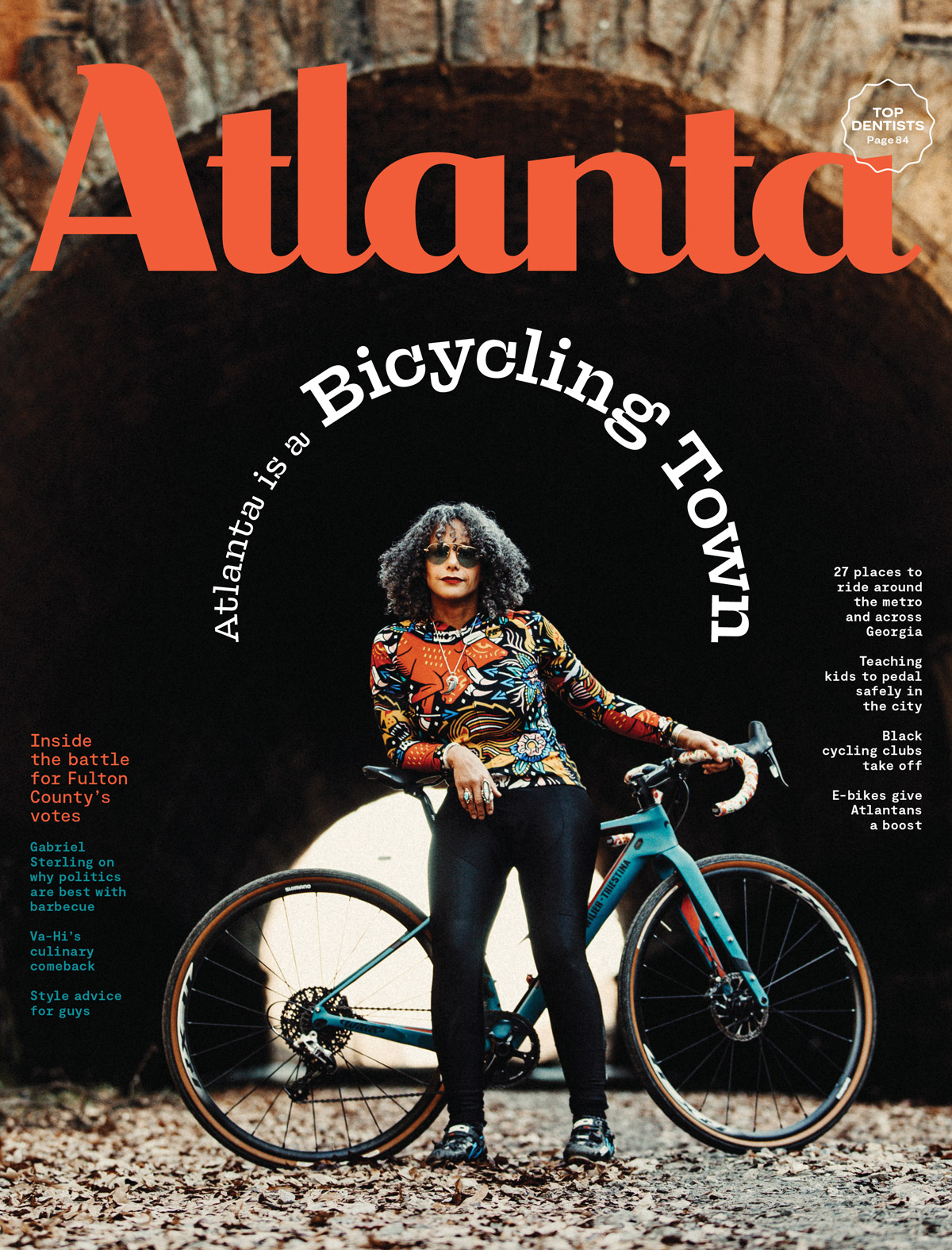 Atlanta Magazine March 2021 cover - Atlanta is a bicycling town