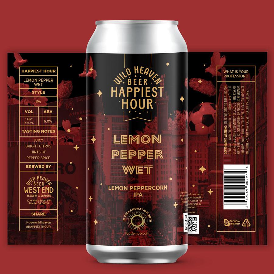 Wild Heaven Footie Mob Lemon pepper wet IPA beer