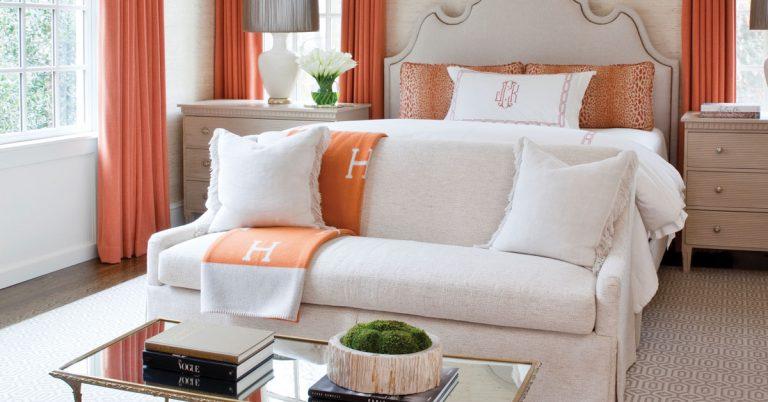 Room Envy: This burnt orange bedroom stands out