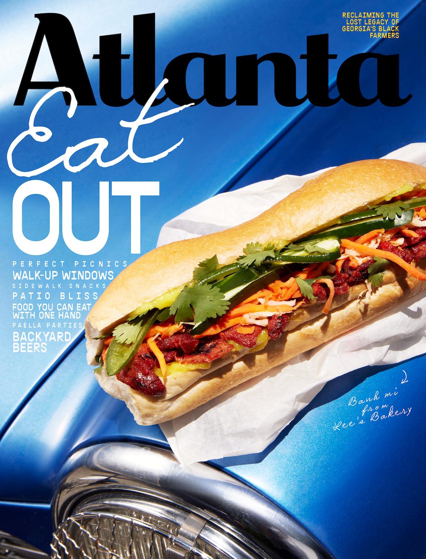 Atlanta Magazine June 2021 cover - Eat out