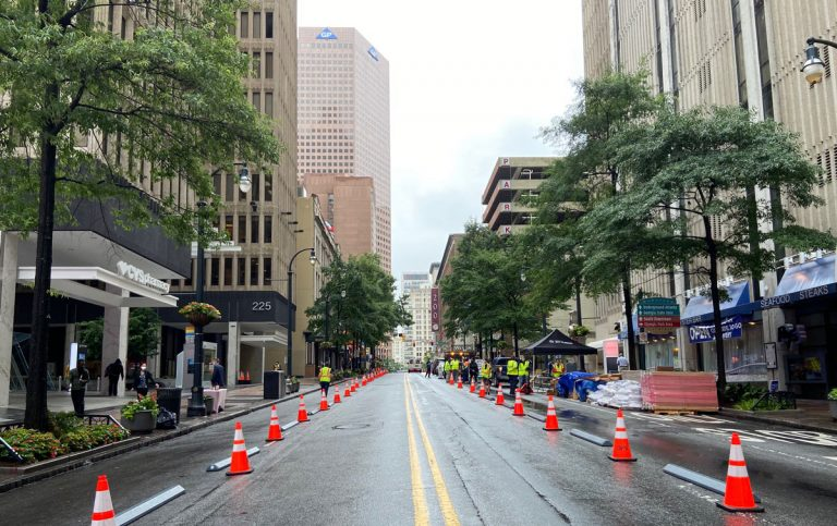In car-obsessed Atlanta, does Peachtree Street's pedestrian-friendly transformation have legs?