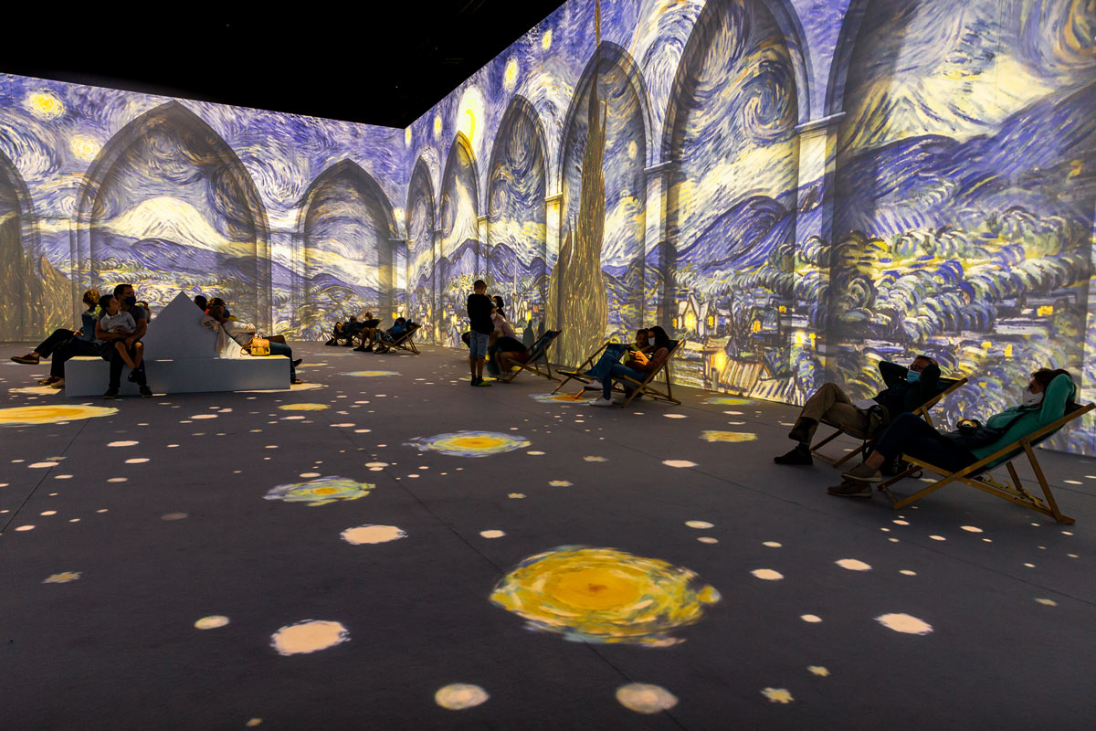 Van Gogh: The Immersive Experience is now open at the Pullman Yard