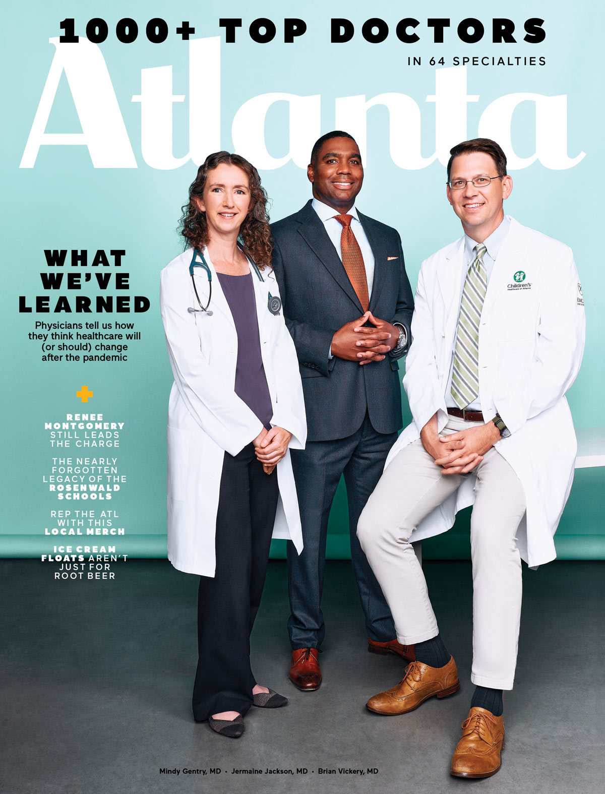 Atlanta Magazine July 2021 cover - top doctors
