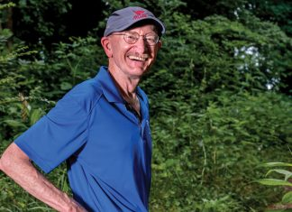 Mike Idacavage has volunteered at the Peachtree Road Race for more than 20 years.