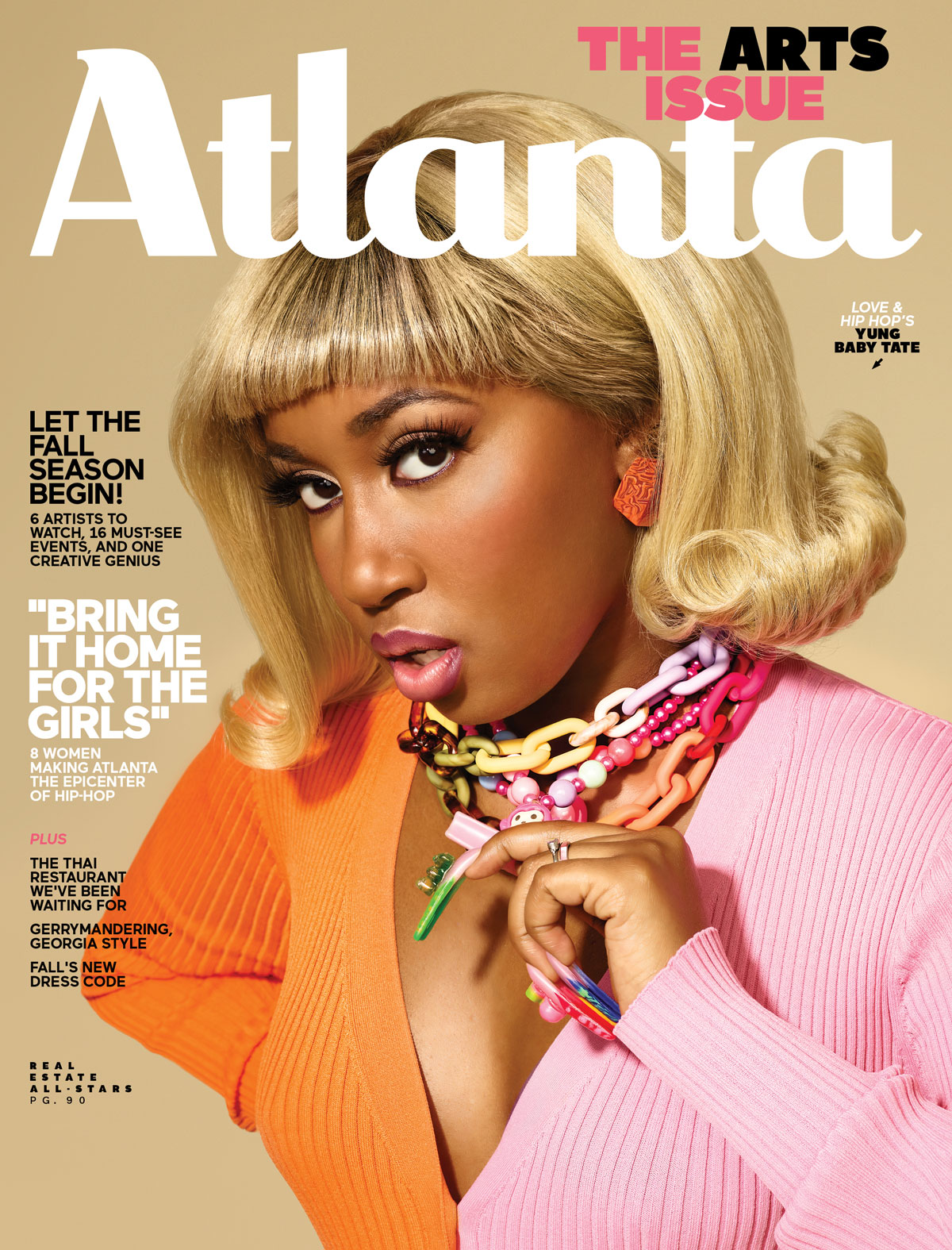 Atlanta Magazine September 2021 cover - arts/women in hip-hop