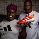 C.J. and Kelli Stewart L.E.A.D. shoes