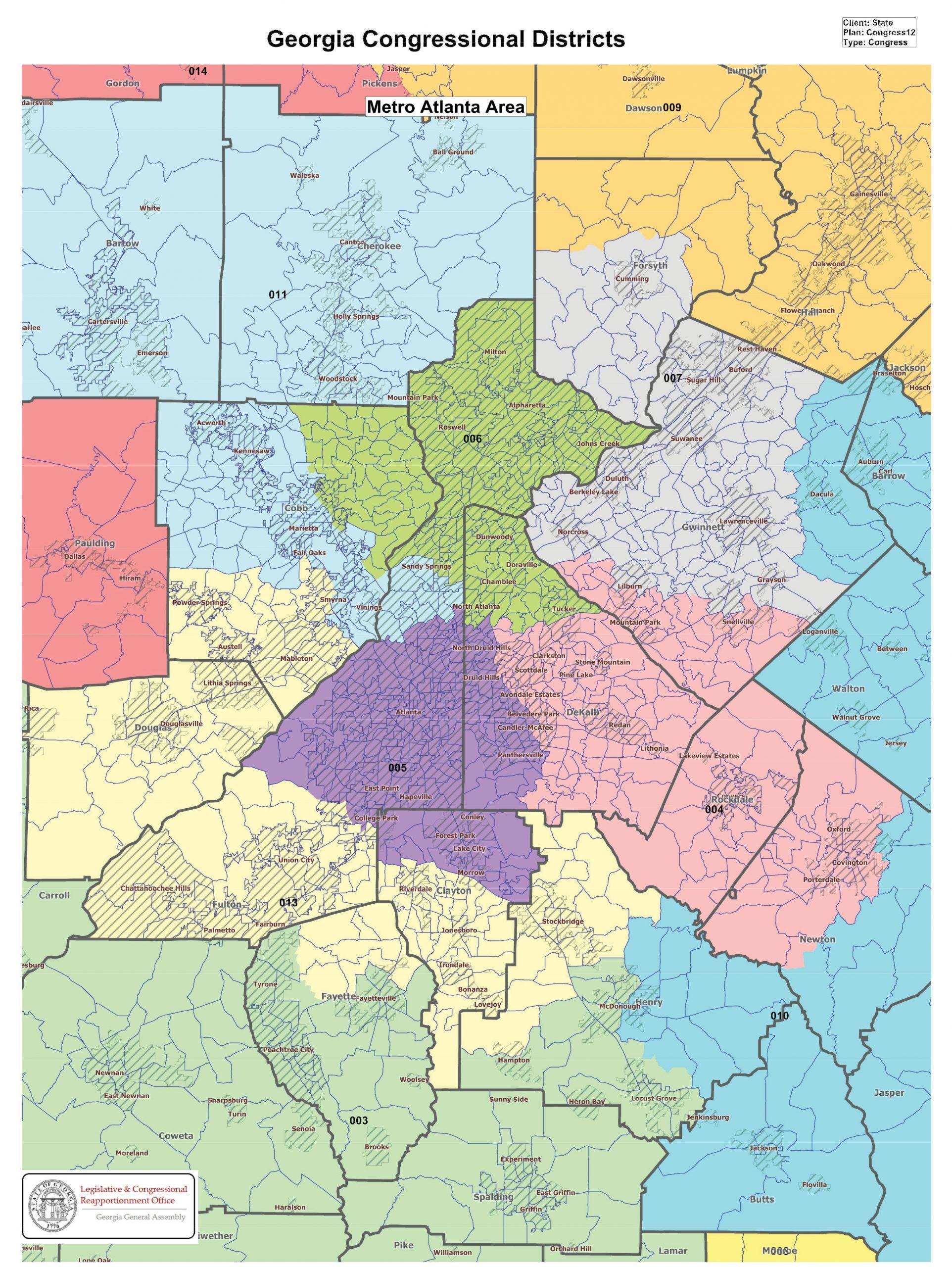 Georgia U.S. Congressional District Map Metro Atlanta