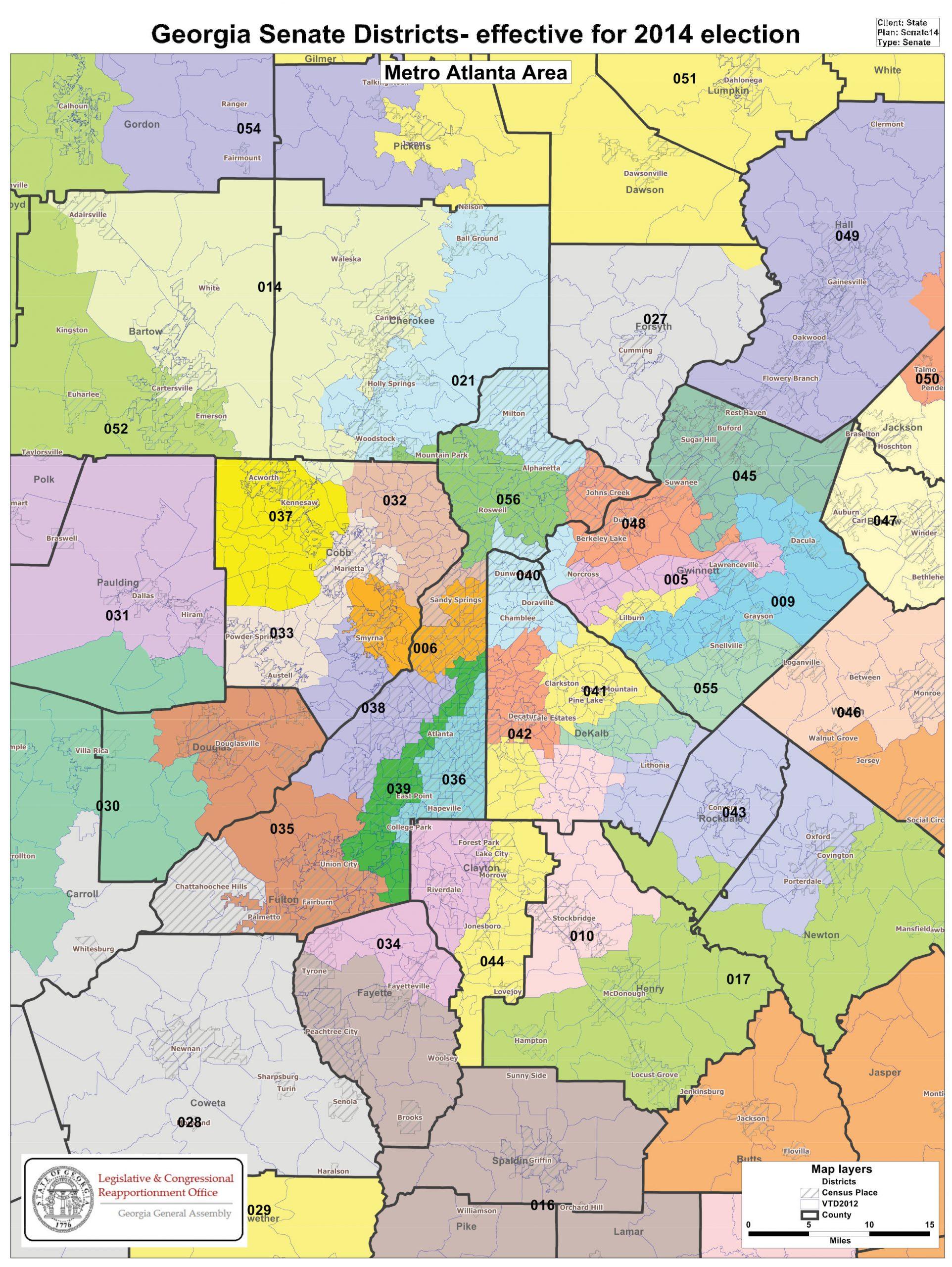 Georgia State Senate District Map