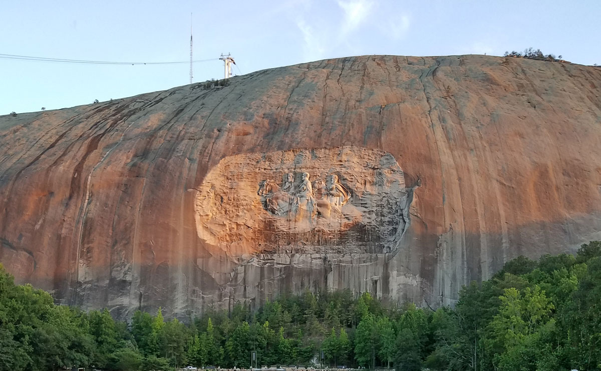 The troubled triangle of Scottish heritage, Southern racial politics, and Stone Mountain